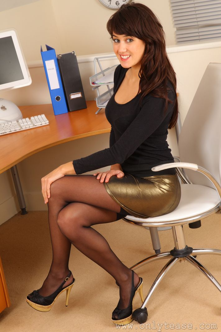 sexy secretary pantyhose