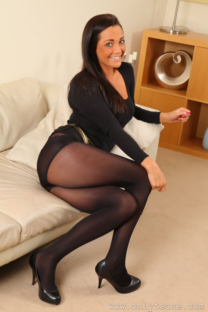 From Mini skirts black pantyhose