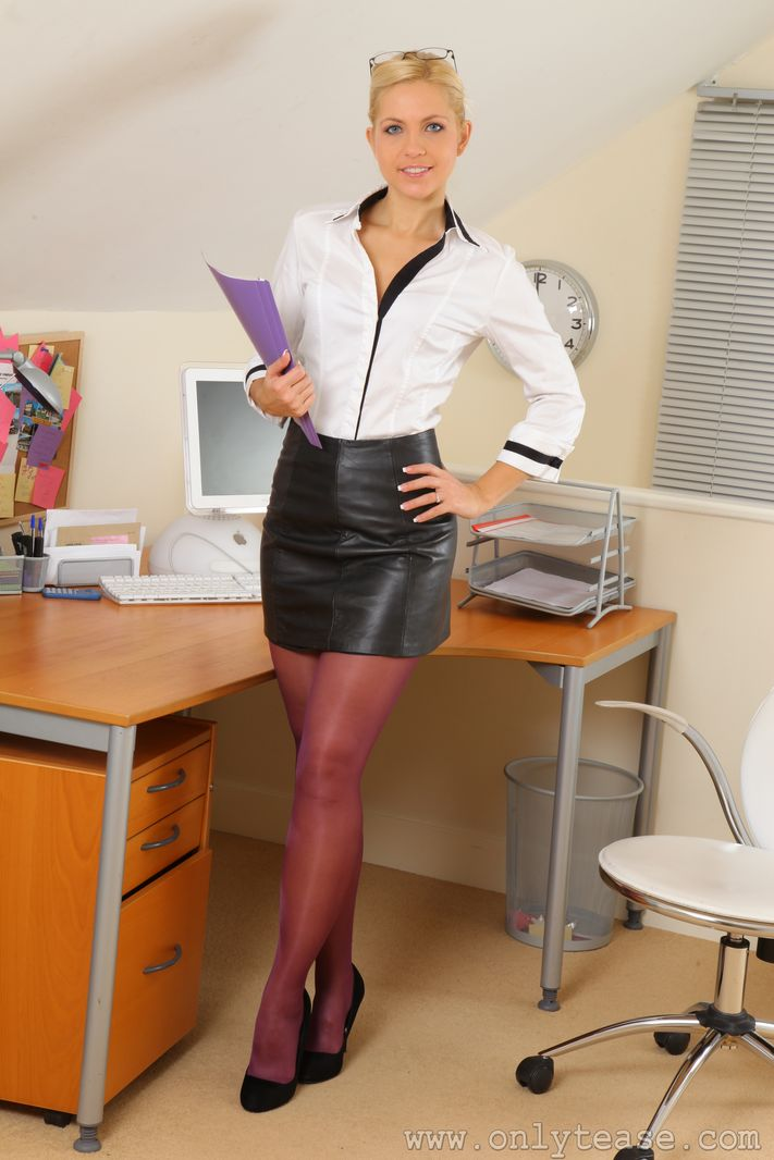 office pantyhose sex find