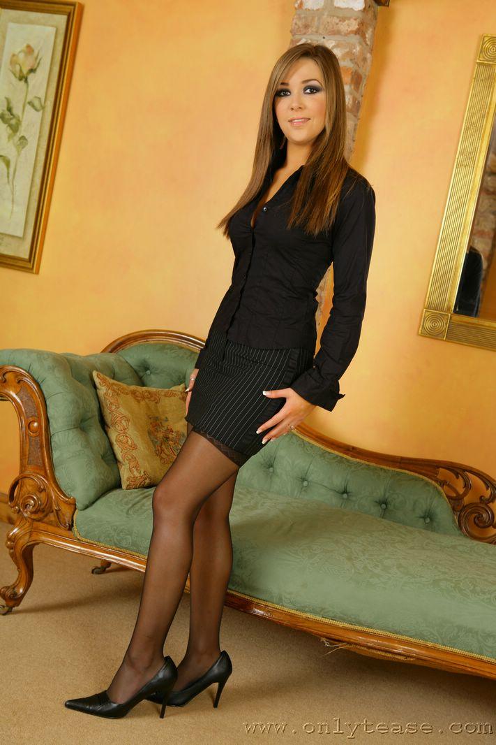 Sexy Secretary Loora In Black Stockings  Only Tease Fan-1254