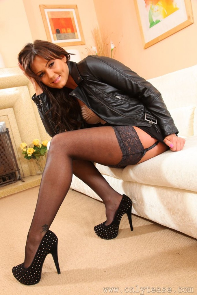 Are not Sexy short skirt pantyhose and heels join