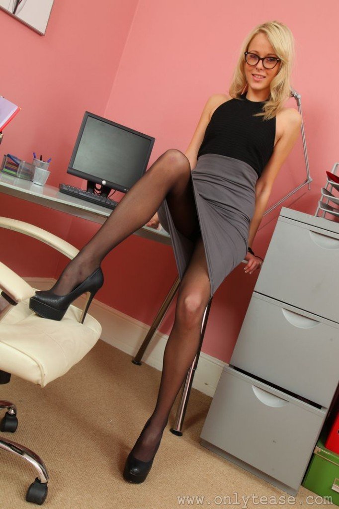 Conversations! Hot secretary pantyhose